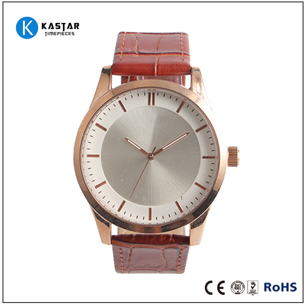 2016 bulk classic man watches, oem custom leather watches, simple watches style