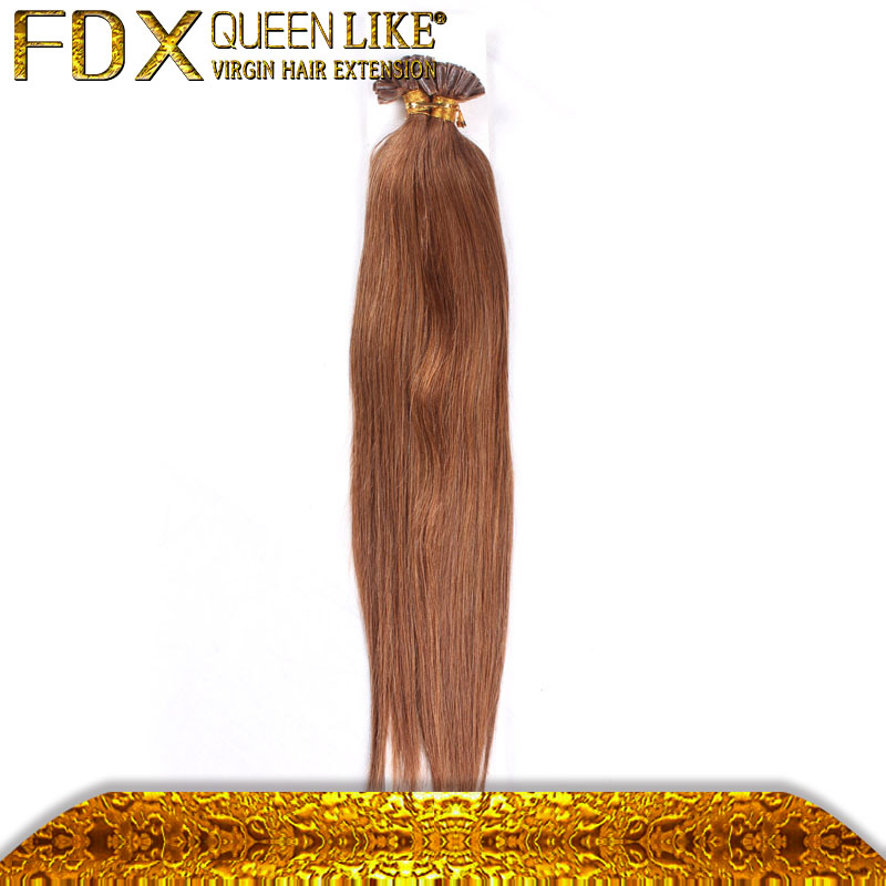 Nail U tip 1g Hair Pre Bonded peruvian silky straight virgin human hair extension comes in various colors