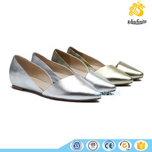 Alibaba express china woman ink printing middle hollow casual dresses flats 2017 no heel shoes