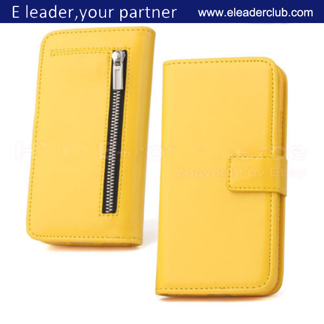 New product leather wallet case For iphone 6,detachable design