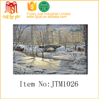 fancy central park christmas canvas painting for new york