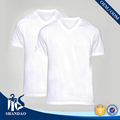 Guangdong Shandao supplier high quality casual plain summer man short sleeve v-neck blank 160g 100% cotton t shirt