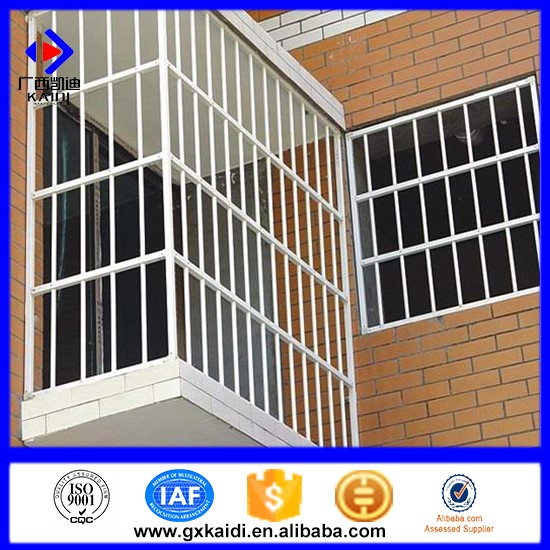 2016 latest decorative modern home safety wrought iron window grill design