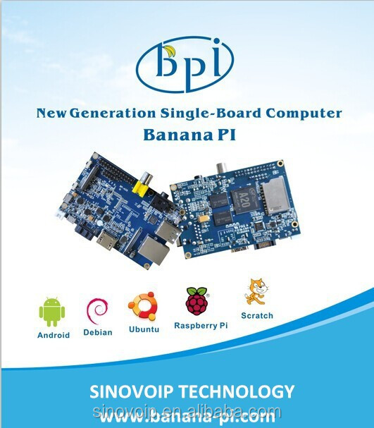 High Quality 1Ghz Dual Core 1GB DDR3 Sex Development Board banana pi wireless