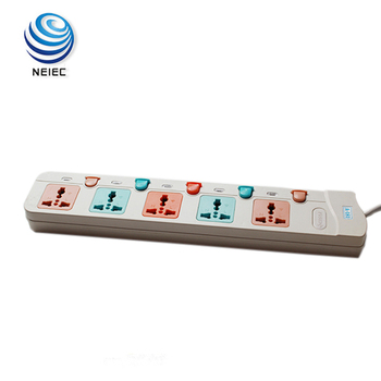 Ground multi hole board electrical extension socket