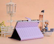 2012 New Design Leather case for Ipad Mini with back cover
