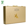 Wholesale custom logo printing cardboard pu leather makeup cosmetic packing box
