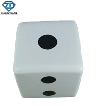 Home Furniture Unique Design Dice Appearance Leather Square Stool