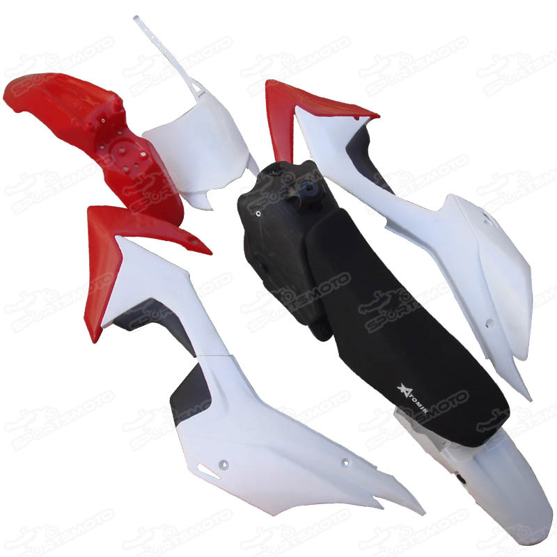 Motorcycle Dirt Pit Bike Mini Cross CRF110 CRF 110 Plastic Kit Set Body Fairing Fender 2013 CRF110F Seat Fuel Tank