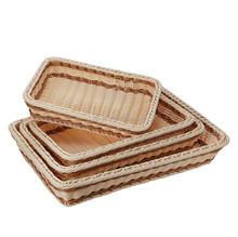 PP Rectangle Wicker Bread Display Basket