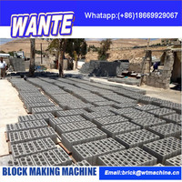 WANTE MACHINERY low investment high profit business QT6-15 hollow brick baking-free brick machine