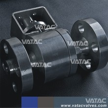 Split Body Forged Steel Ball Valve with bare shaft