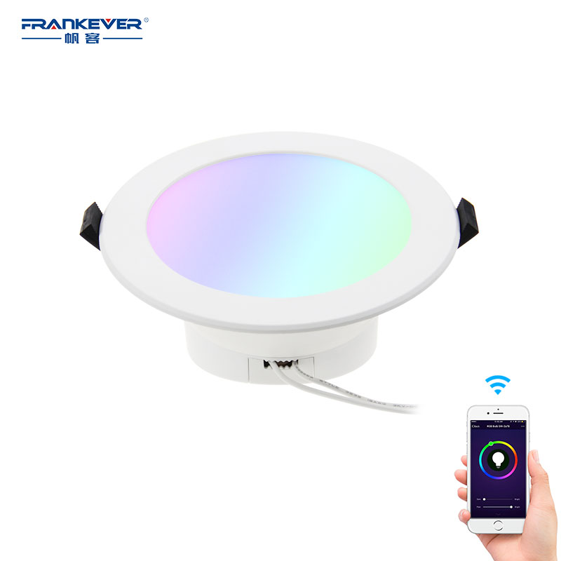 Led <strong>downlights</strong> australian standard SAA approved smart wifi RGBW led <strong>downlights</strong>, voice controlled by Alexa