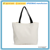 custom blank white canvas shopping tote bag