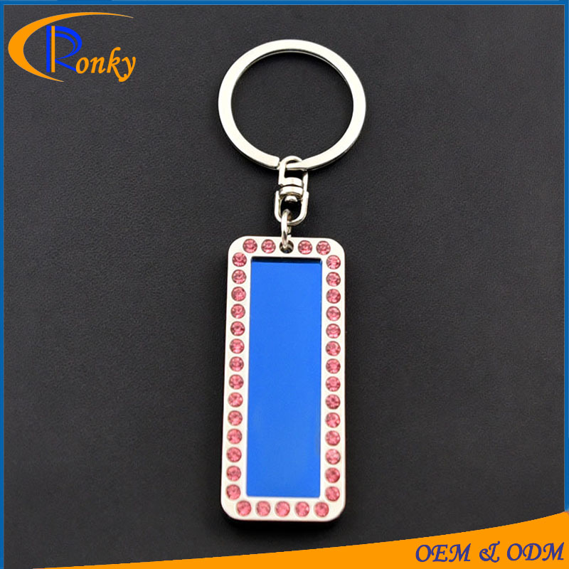 Trendy corporate promotional items jewelry tags metal keyring for logo printing