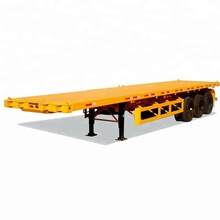 tri-axle flat bed container chassis trailer
