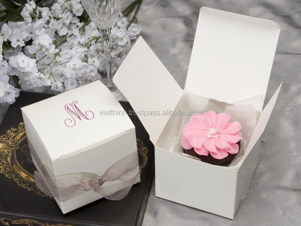 Box packaging/decorative folding paper gift box for pizza/cake/cupcake/sandwich