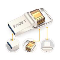 EAGET CU10 New Portable Type-C Micro USB OTG USB3.0 Flash Drive 16GB 32GB 64GB Pendrive Smart Phone Pen Drive Memory U Disk