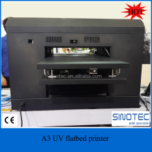 2016 newest A3 UV printer, cell phone case/plastic card/transparent business card printing machine, used uv flatbed printer