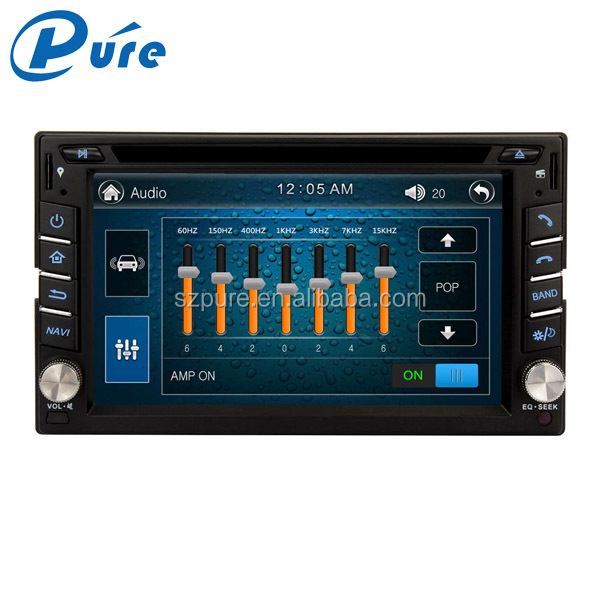 Double din wince 6.0 touch screen car stereo bluetooth 6.2 inch universal car video player