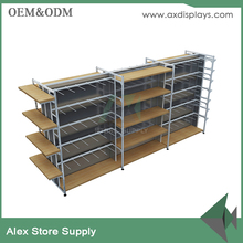 Store display stand wood stationery shelf shop furniture showcase