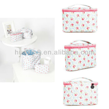 HX14031010 Canvas Printed Coating Cosmetic Pouch
