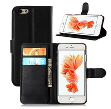 PU Leather Credit Card Wallet Flip Phone Case For iPhone For Huawei With Stand Card Slot