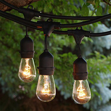 E26 14AWG lamp holder LED festoon Bulb Belt string Light indoor or outdoor for christmas