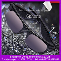 2015 new arrival smart glasses Gphone can make phone call support bluetooth camera
