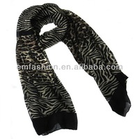 Fashion New Women Polyester Zebra and Leopard Animal Print Scarf