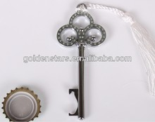 New products 2013 best wedding favors love key bottle opener for bear wholesales
