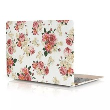 Scotland Rose White Pink Flowers Garden Floral HardShell Case for Macbook Air 11.6 inch