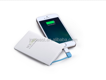 Hot Promotional Gift credit card size power bank 2500mah powerbank