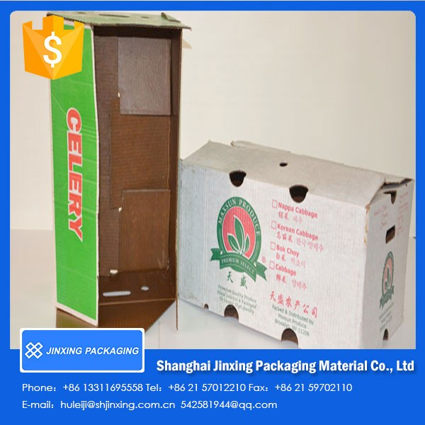 Recycle Wax cardboard boxes for frozen food packaging