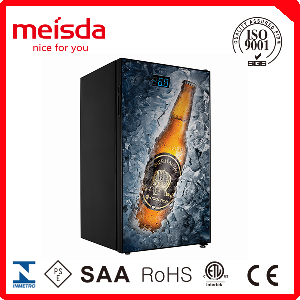 98l upright display fridge for beer and Cola