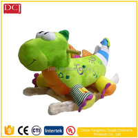 New Style Green Dinosaur Toy with Big Eyes Baby Rocking Toy for Kids