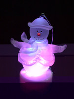 Acrylic snowman led decoration Christmas