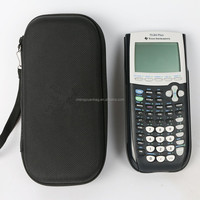 Hard Travel Carrying EVA Storage Case Bag For Graphics Calculator and More. Fits USB Cable - Black