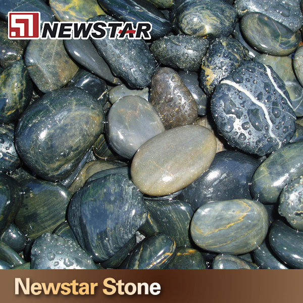 Polished natural river stone mixed color pebbles stone
