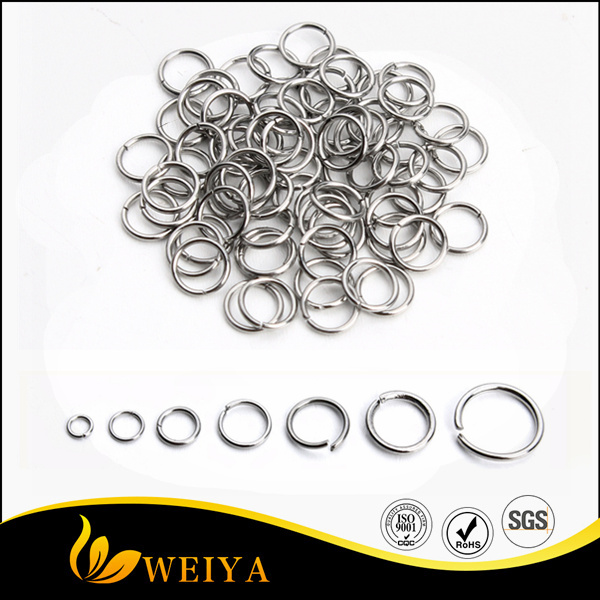 Stainless steel different size jump rings for jewelry making findings