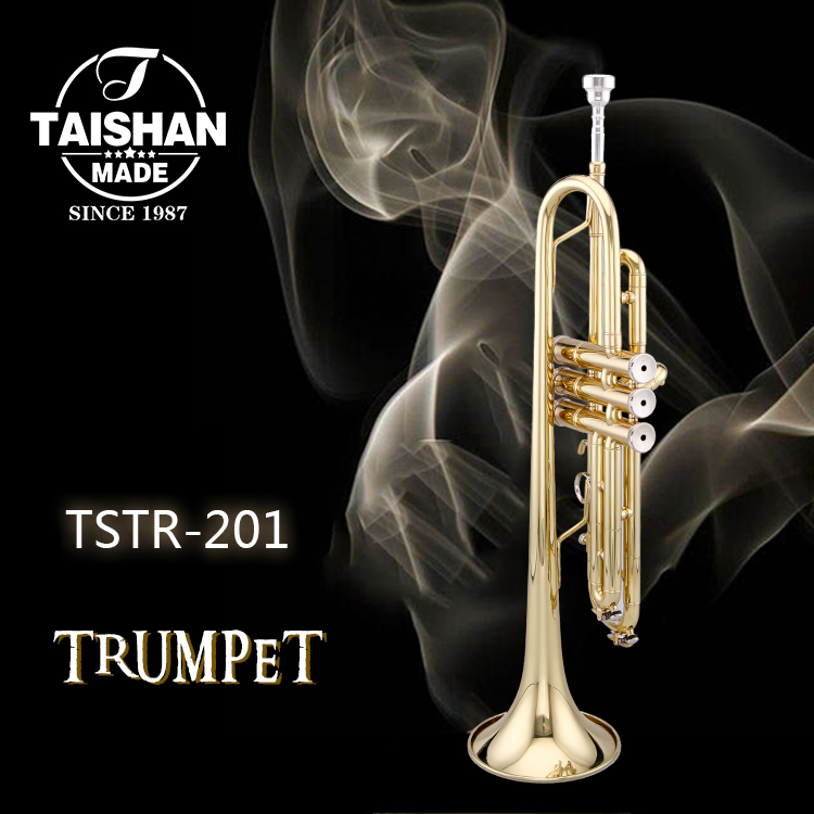 Standard gold lacquer new style trumpet TSTR-201