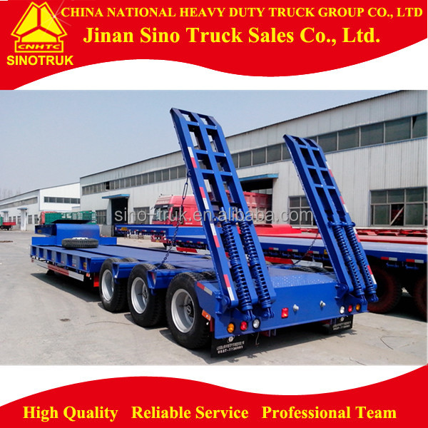 Chinese suppliers 3 Axles Low Bed Semi Trailer for sale
