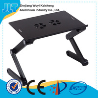 Popular model foldable laptop lap stand with double fans