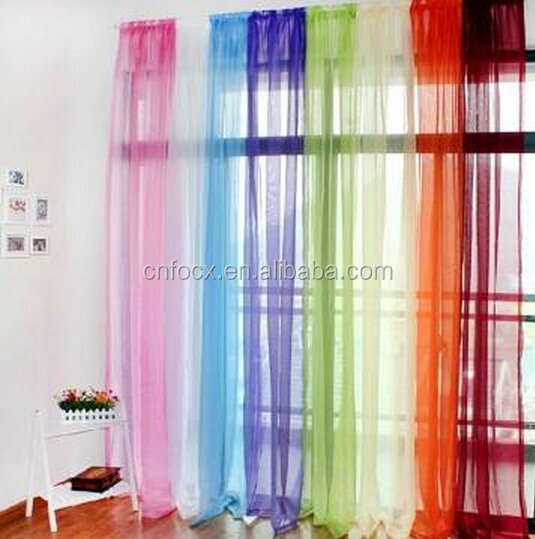 Hot selling Door Window Curtain / balcony curtain / window Gauze Curtain