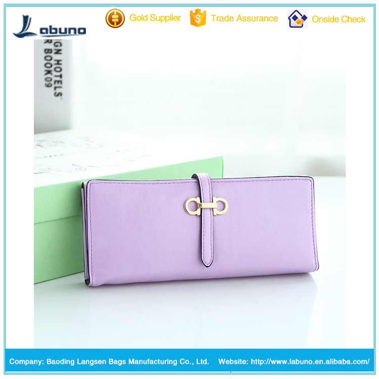 wholesale 2015 good quality PU leather women wallet