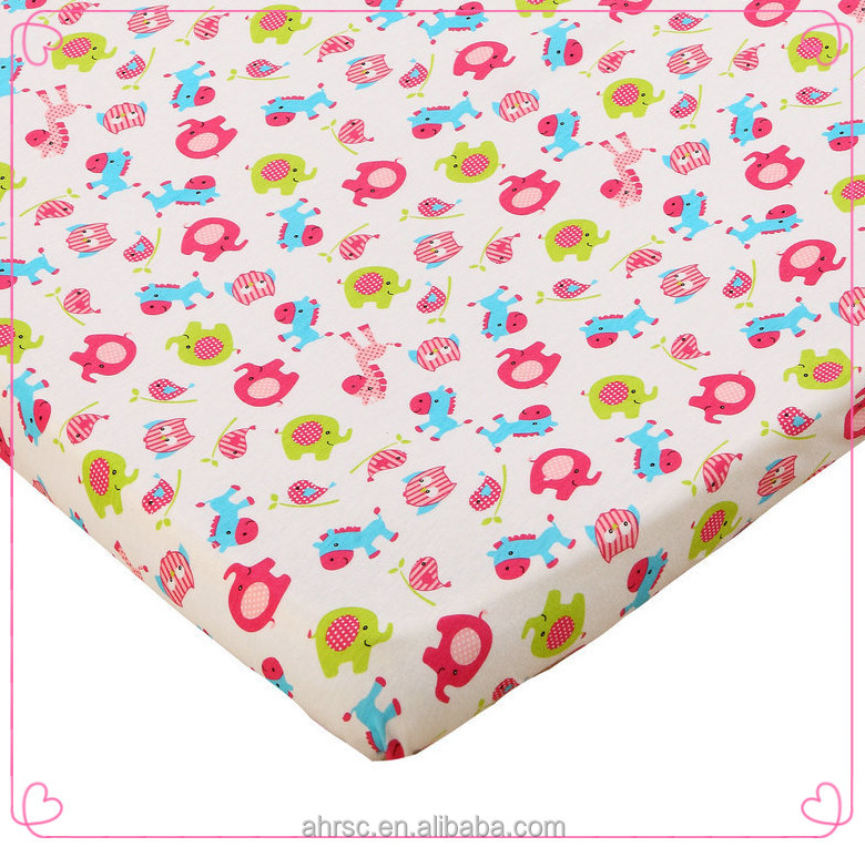 crib sheet in bedding set 100% jersey cotton fitted crib sheet