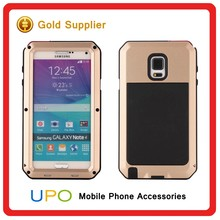 [UPO] High Quality Metal + Silicone Powerful Defender Rugged Case for Samsung Galaxy Note 4,Phone accessories