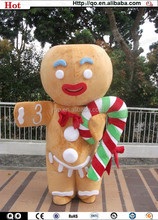 Christmas best selling unique lovely gingerbread man mascot costume
