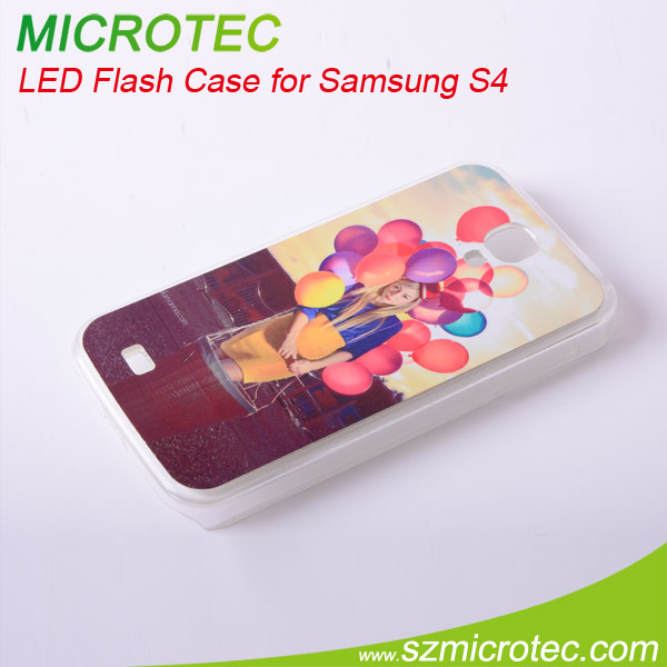 Sublimation LED Flash Case for Samsung S4