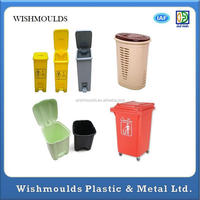 plastic injection mould for 20L/30L/45L/120L garbage bin recycle bin trash bin